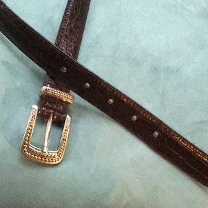 Beautiful Talbots textured leather belt